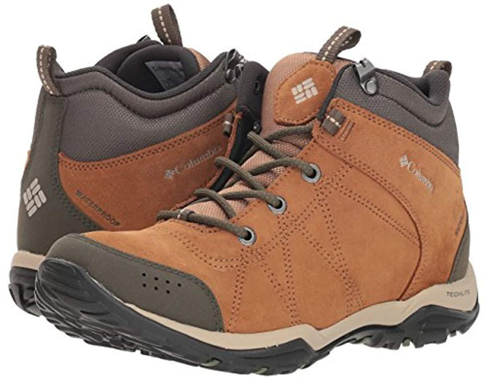 6126e762230 Columbia Fire Venture Mid Suede Waterproof Hiking Boot in Brown ...