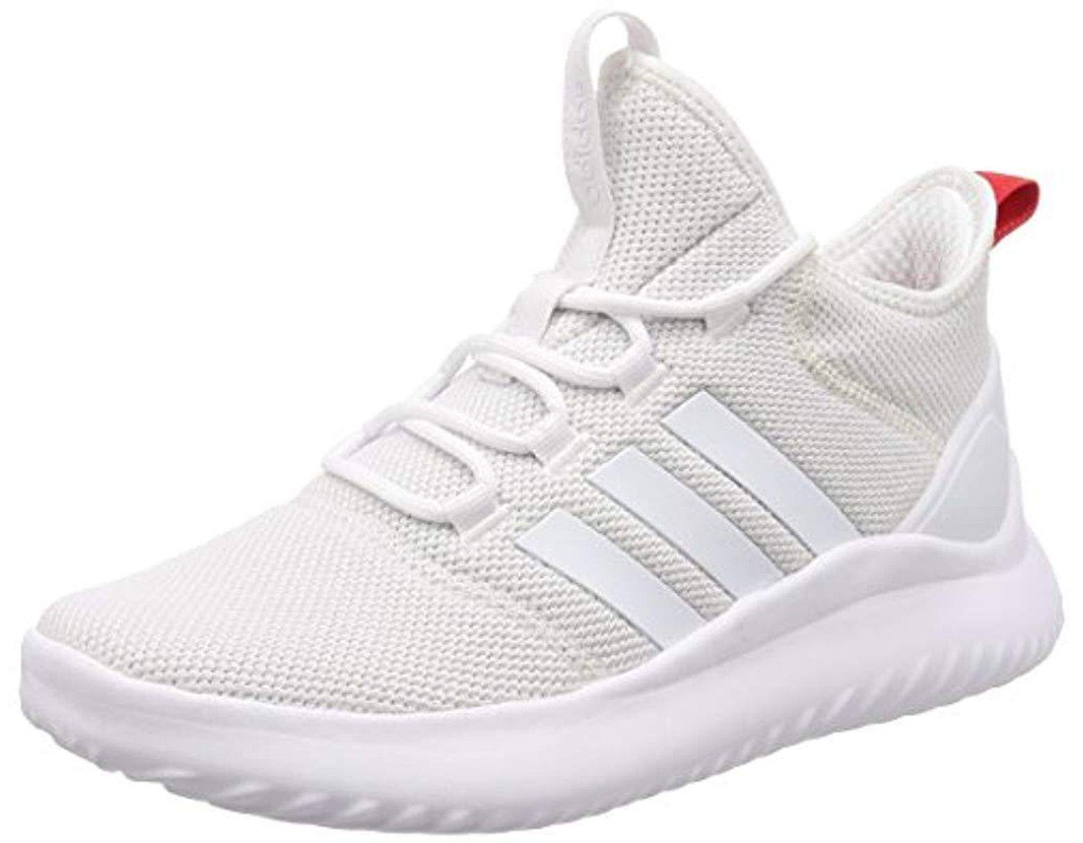 Men's White Cloudfoam Ultimate Bball Hi top Trainers