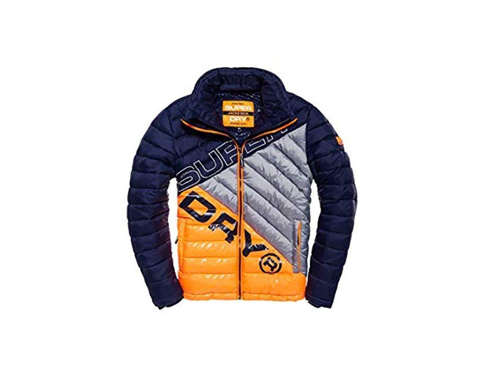 fa945b962d7 Men's Blue Incline Quilt Jacket Coat