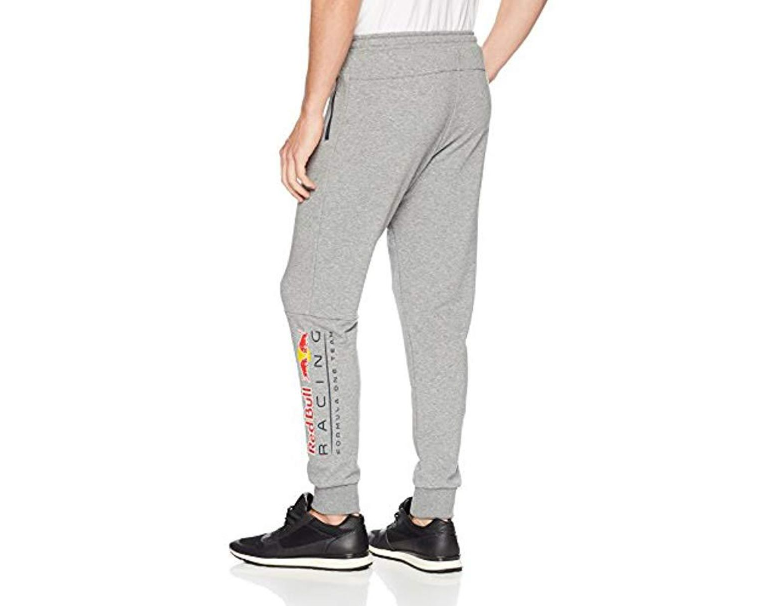 e95fe33647149 Lyst - PUMA Red Bull Racing Logo Sweat Pants in Gray for Men - Save 9%