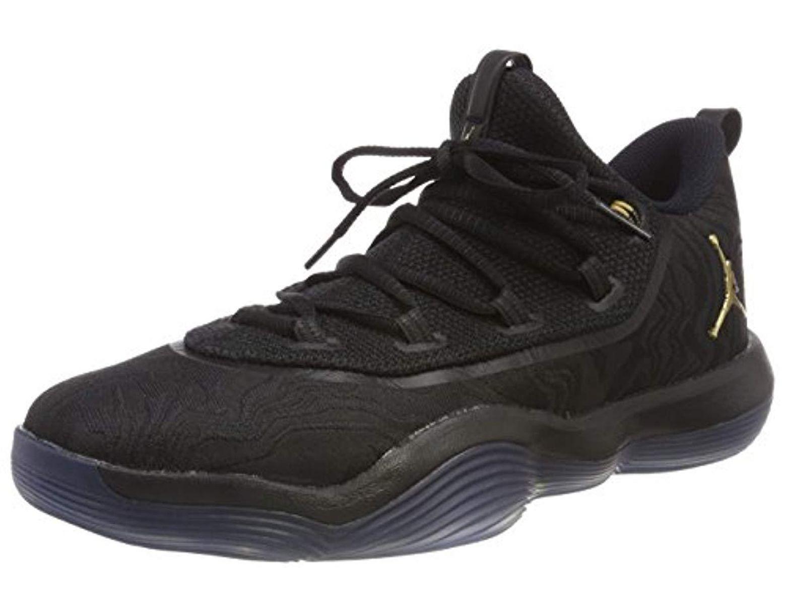 3805e3b327fba Men's Black Jordan Super.fly 2017 Low Basketball Shoes