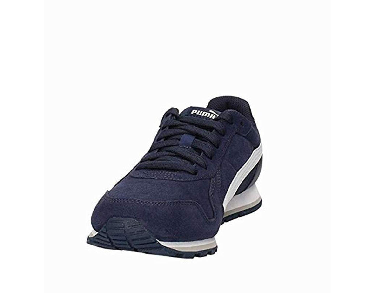 Men's Blue St Runner Sd Sports Casual Trainer Shoes (10 Uk, Peacoatwhite)
