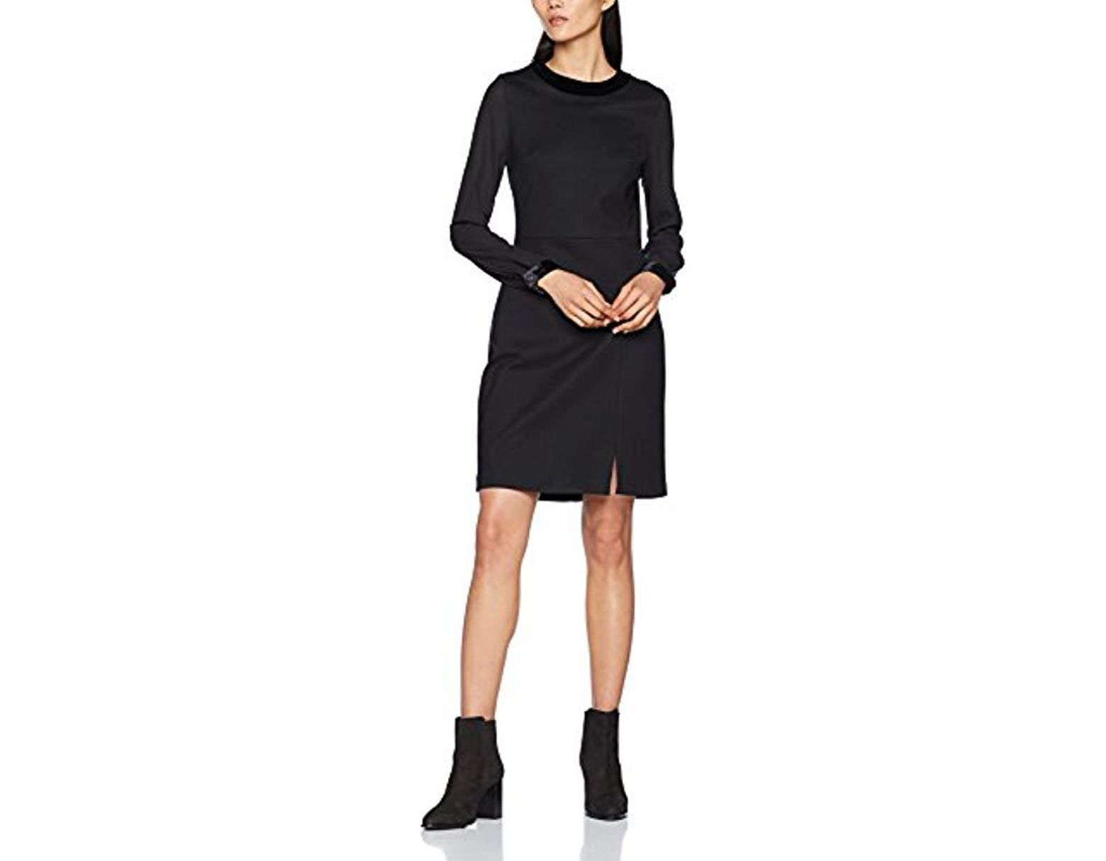 Femme Robe Dress Ls De Nerissa Noir Coloris 2EDIH9