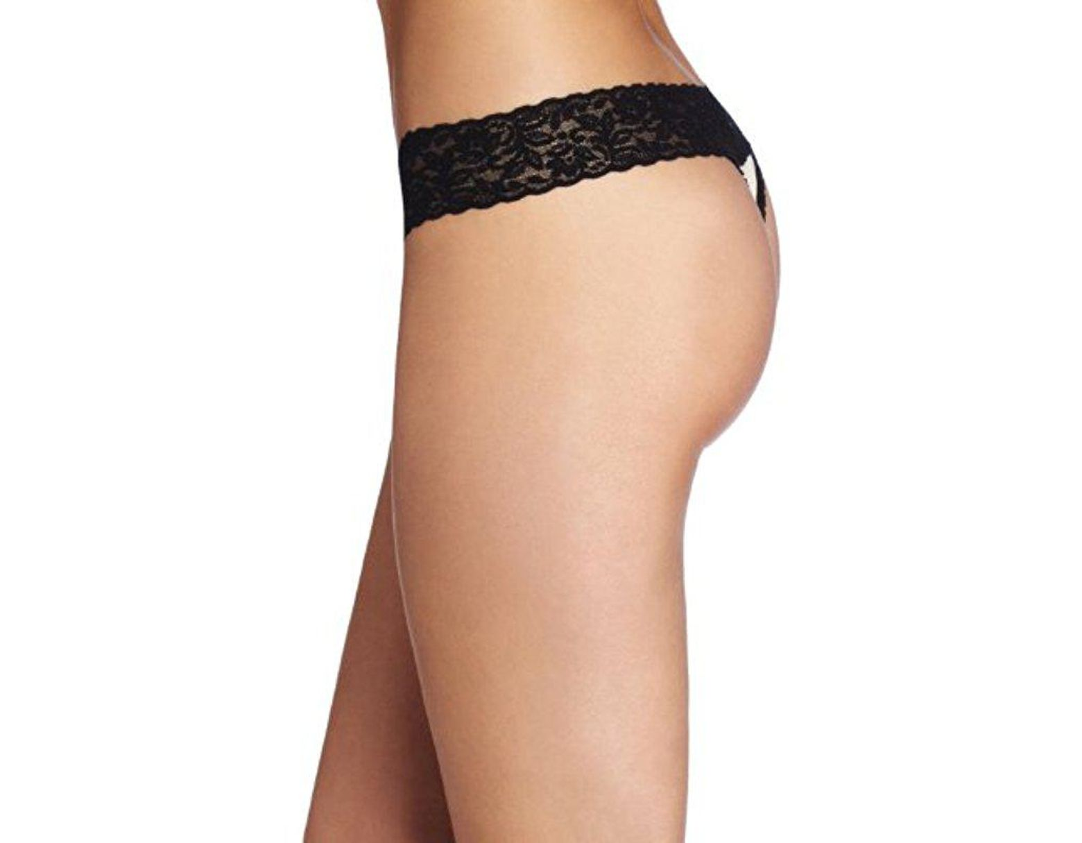 b04d4c12359d Lyst - Maidenform All Lace Thong Panty in Black - Save 30%