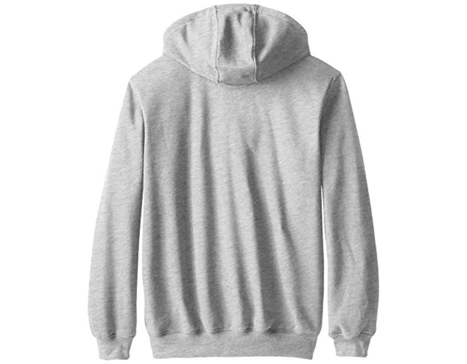 45a0f17b2 Men's Gray Midweight Hooded Zip Front Sweatshirt