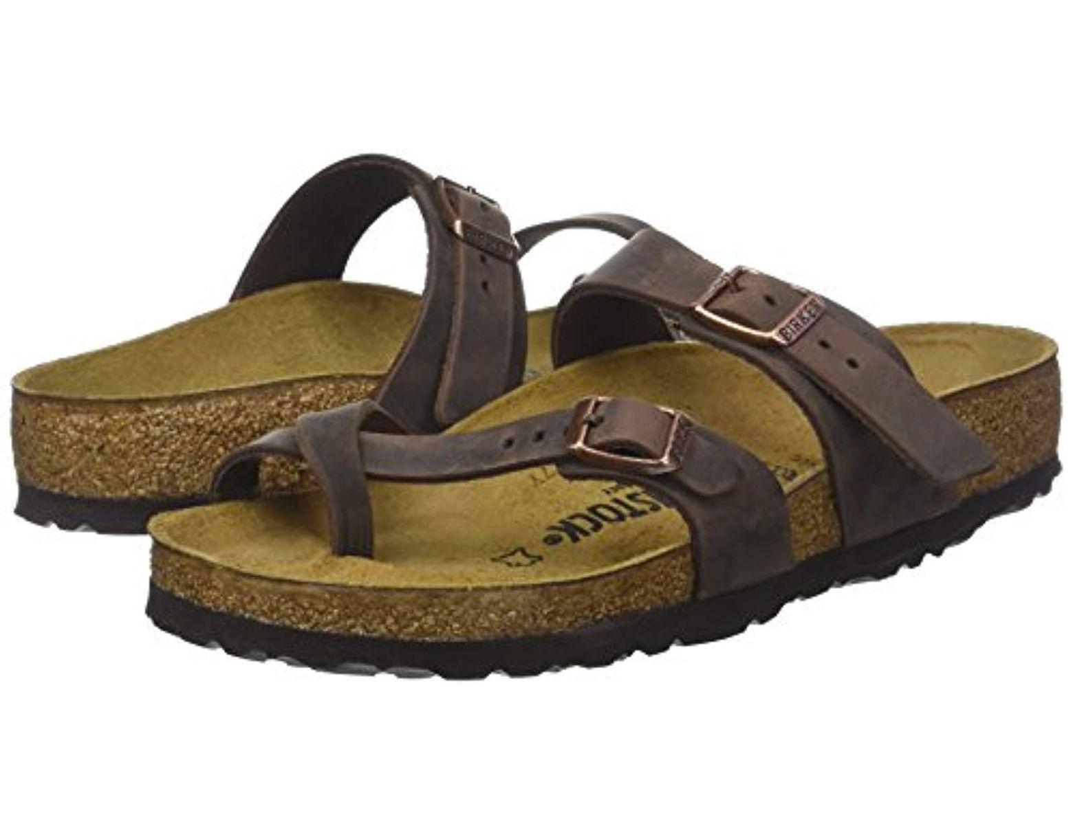 Women's Flops Brown Mayari Greased Flip Leather 54ARL3j