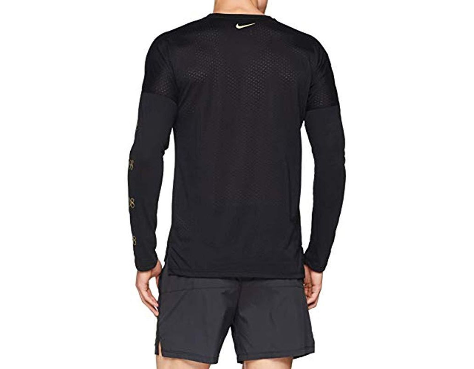 80817c51 Men's Black 's M Nk Tailwind Top Ls Gx Long Sleeve