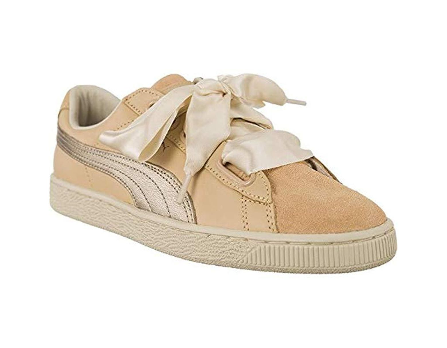 Natural Basket Heart Up Women's Trainers White 34jq5LAR