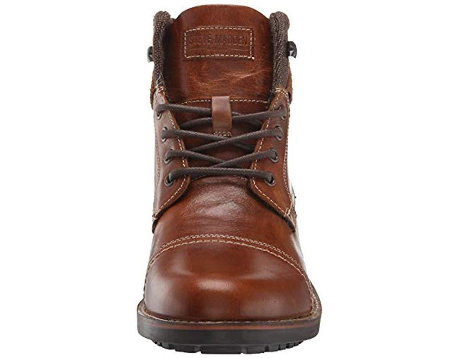 911a247d4bb Steve Madden - Brown Lundin Combat Boot for Men - Lyst