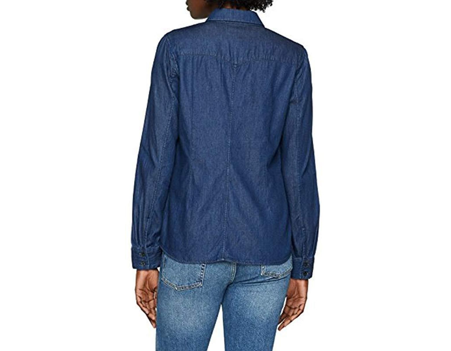 G-Star Raw Womens Tacoma One Pocket Long Sleeve Bf Shirt in Indigo Sterling Flannel Check