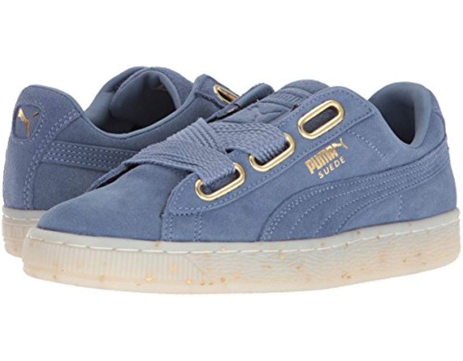 Wn's Suede Women's Celebrate Heart Sneaker Blue FTcKJl31