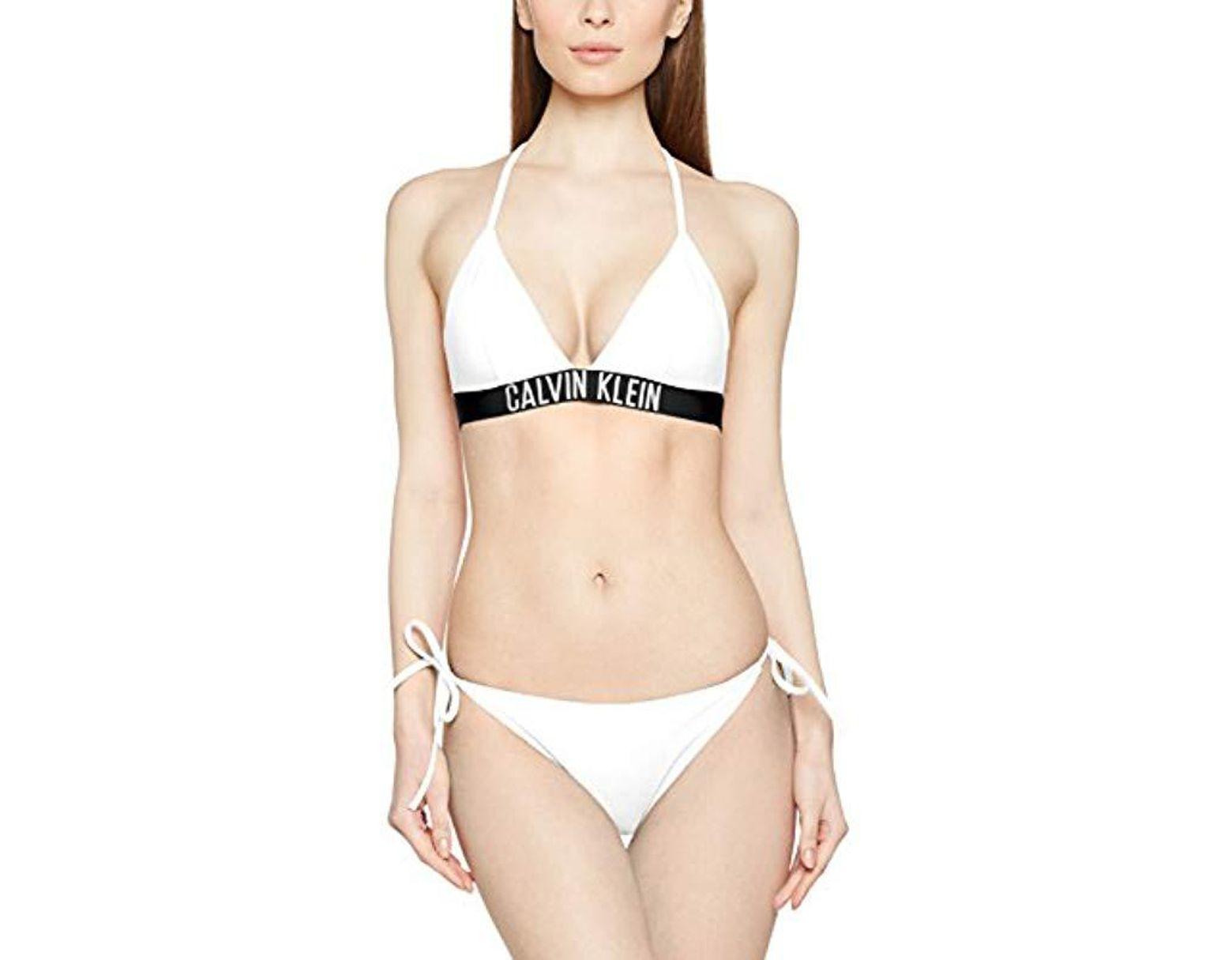 8ad477294e88d Cheeky String Side Tie Bikini, Bas de Maillot Femme de coloris blanc