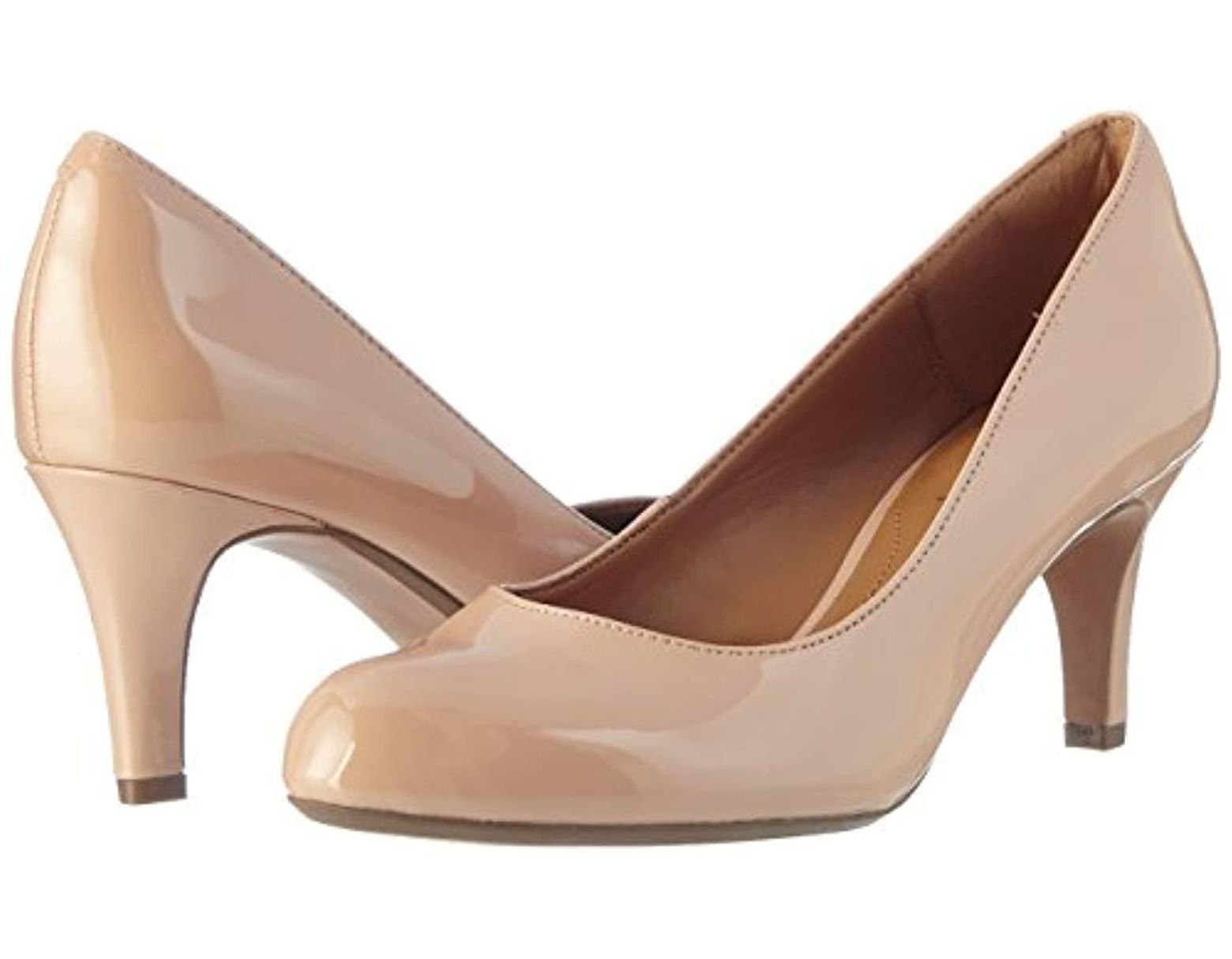 Clarks Arista Abe Closed toe Pumps in Natural Save 11% Lyst