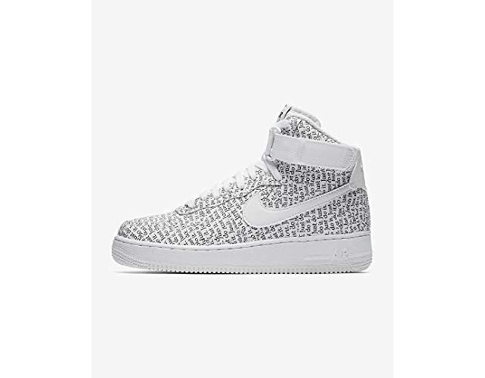 faa508fb4e5aa White Unisex Adults' Wmns Air Force 1 Hi Lx Fitness Shoes