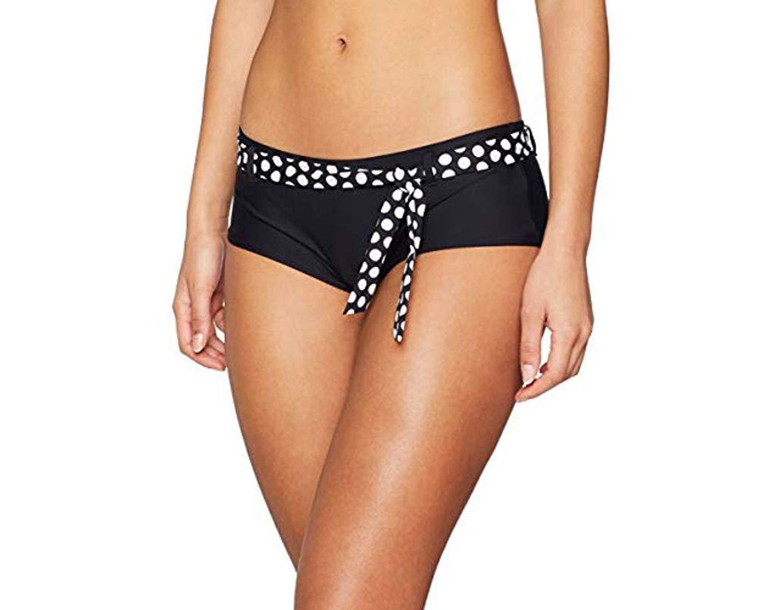 505a43b54bec6 Women's Black Crosby Beach Hipster Shorts Bikini Bottoms