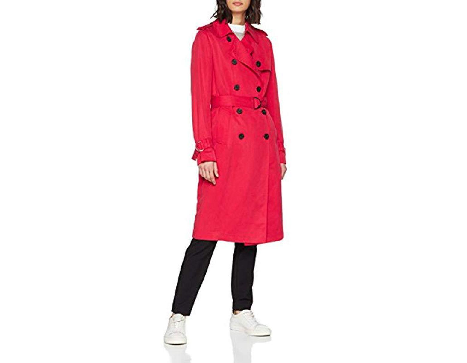 Manteau Shawn Trench Femme De Coloris Rouge Rc435AjLqS