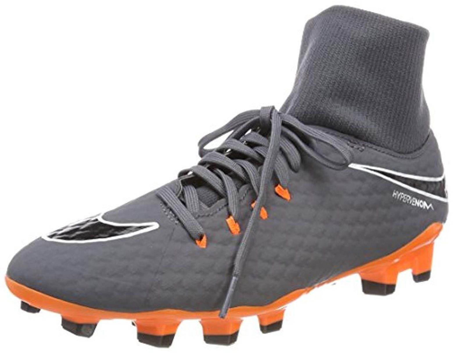 premium selection 15d0e a0bf6 Men's Gray Phantom 3 Academy Df Fg Football Boots, Dark Grey/white/total  Orange 081, 11 (46 Eu)