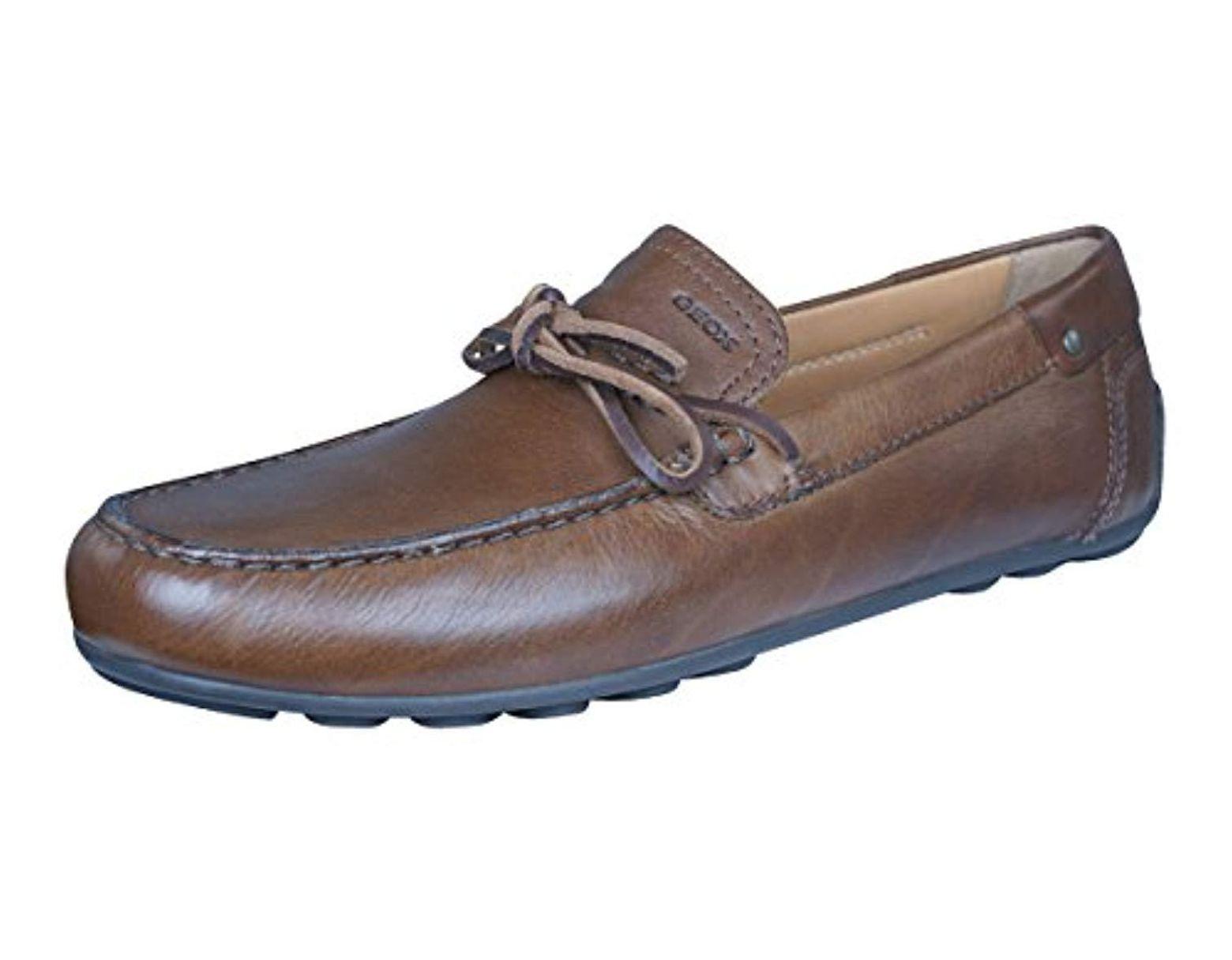 Geox Men/'s u Moner Mocassin Slip on penny Loafer shoes 2Fit A Black Leather