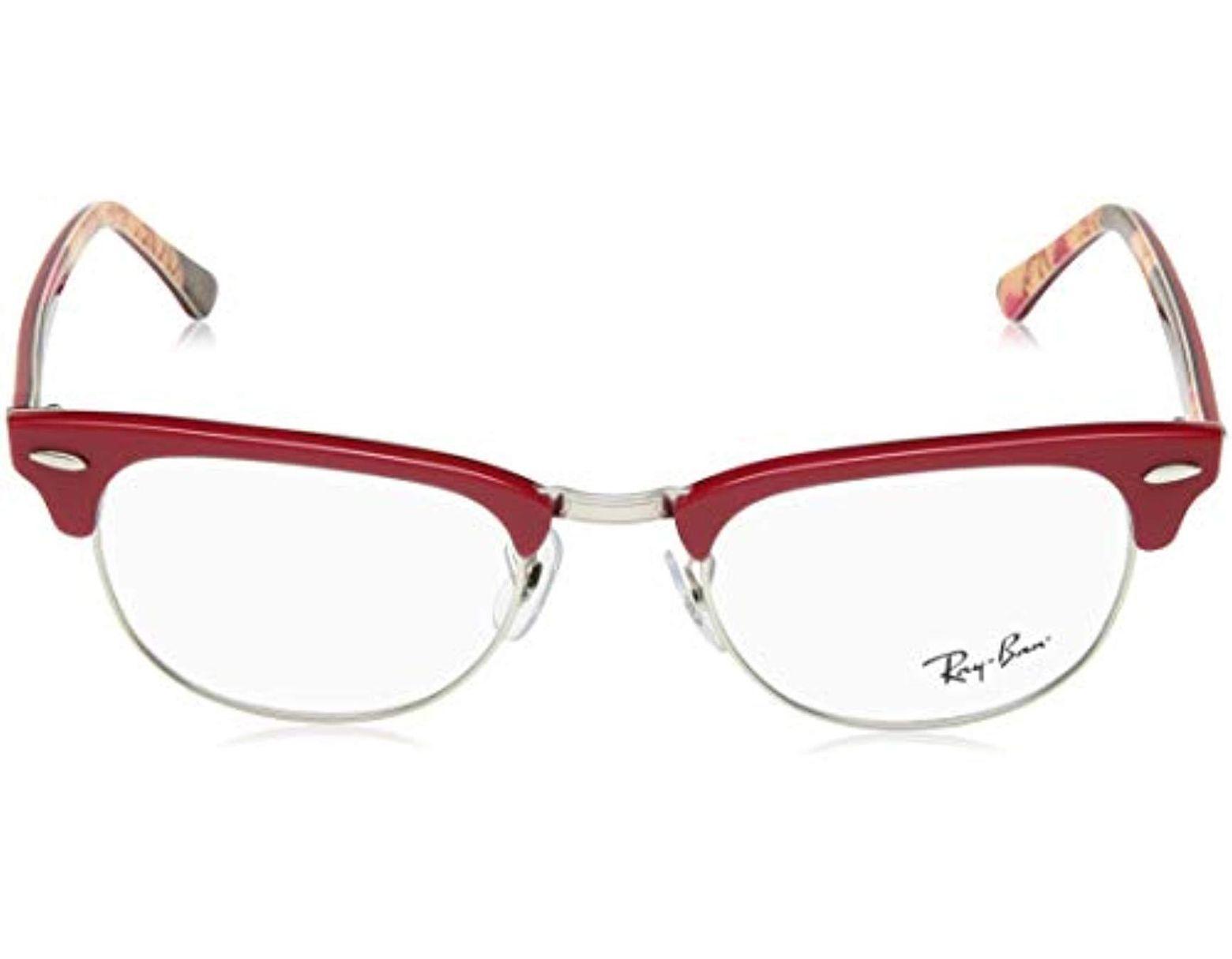 6a8a191085 Clubmaster, Monturas de Gafas Unisex Adulto Ray-Ban de hombre de color Rojo  - Lyst