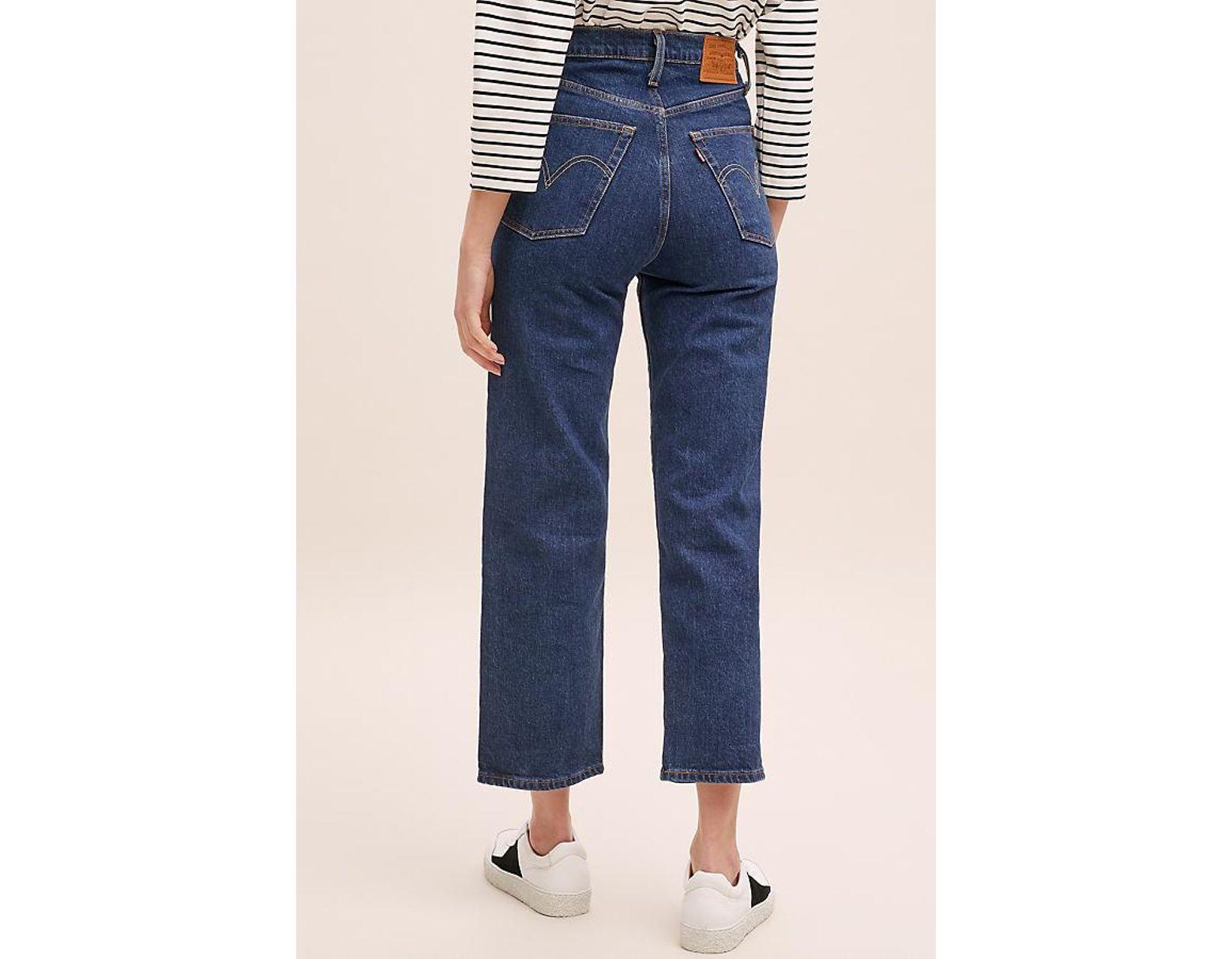 Haute Bleu Taille Femme Droit Coloris Jean Ribcage De 8n0wvmN