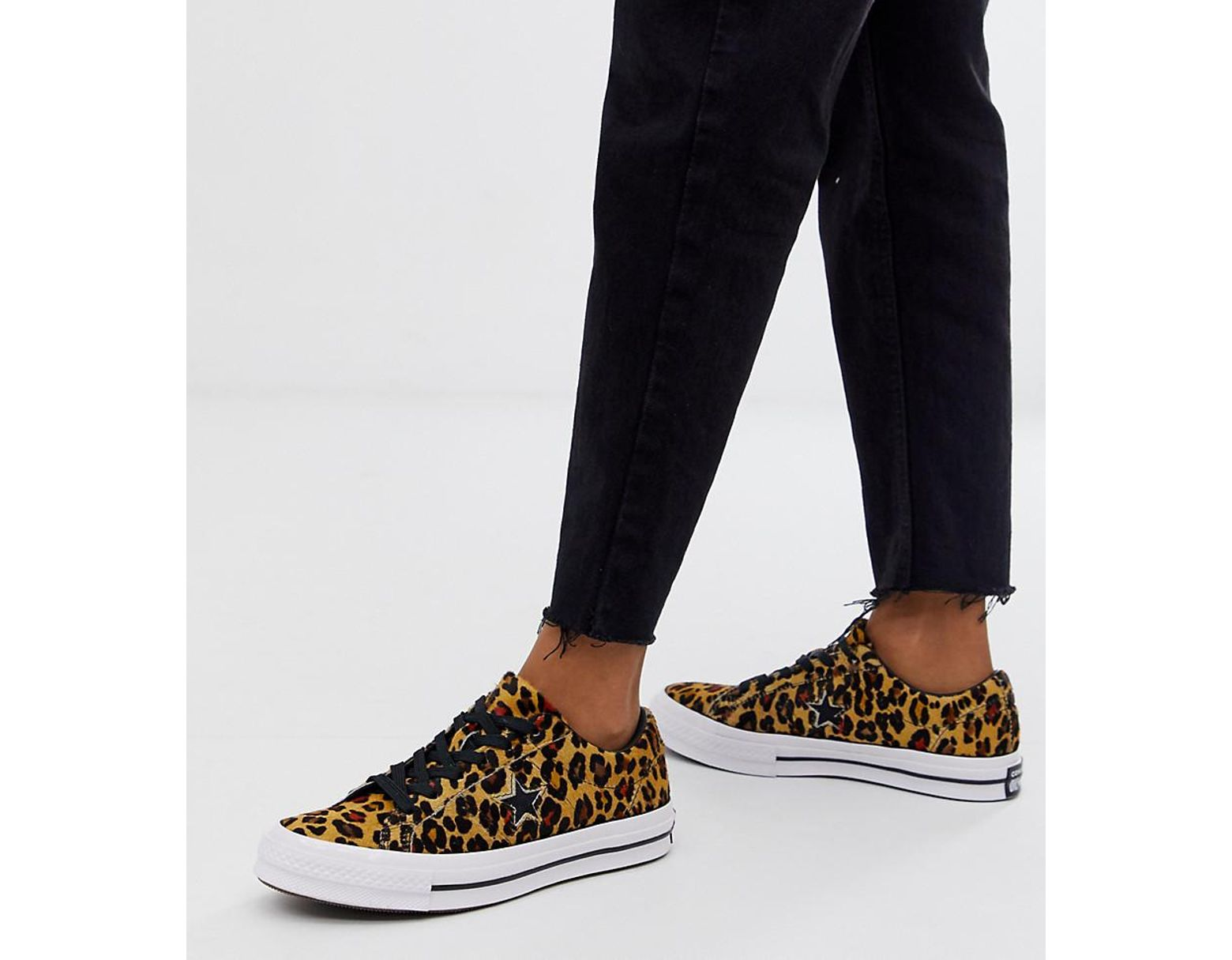a166d675828 Women's One Star Pony Hair Leopard Print Sneakers