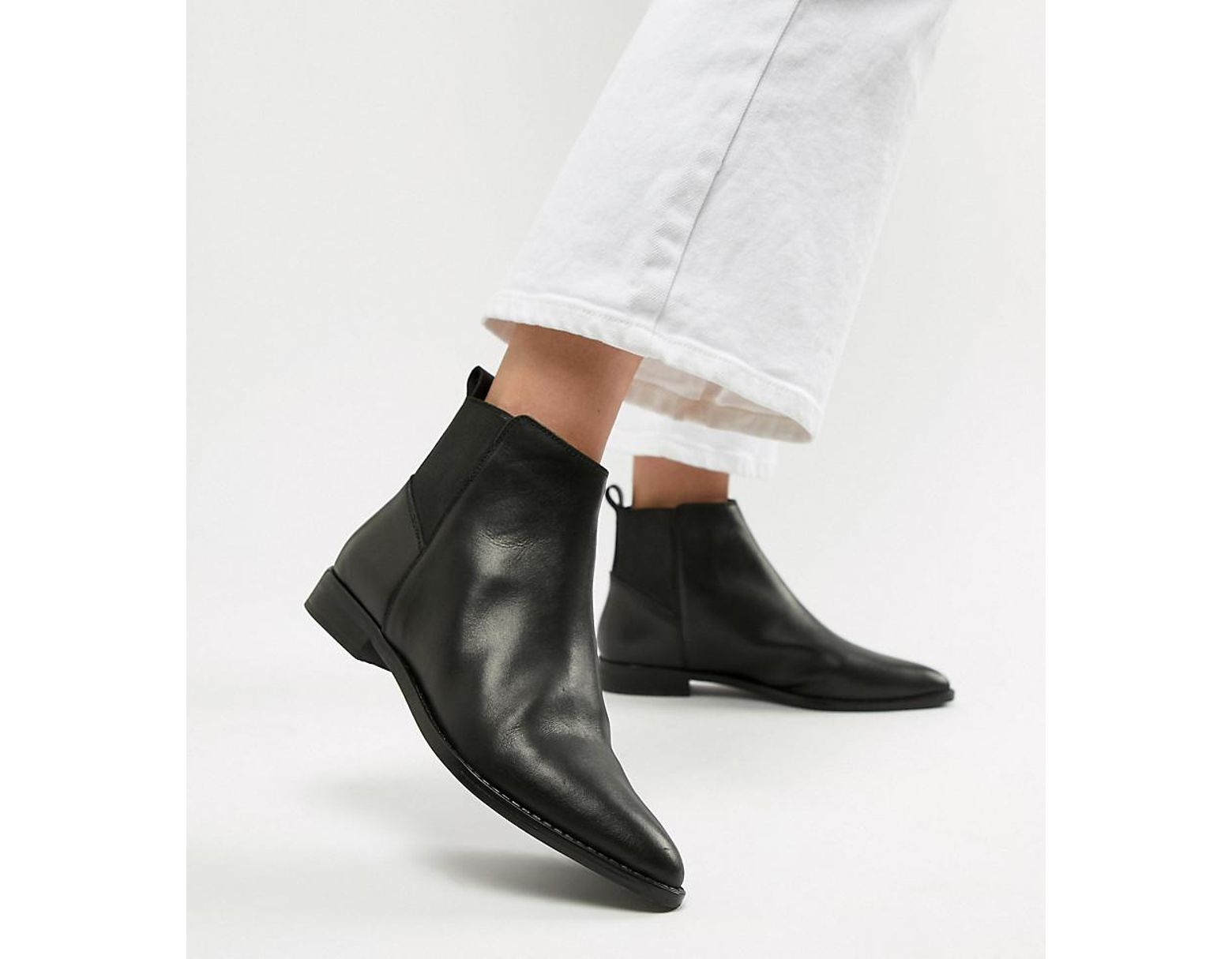 cdd444dbe1b Women's Black Atom Leather Chelsea Boots