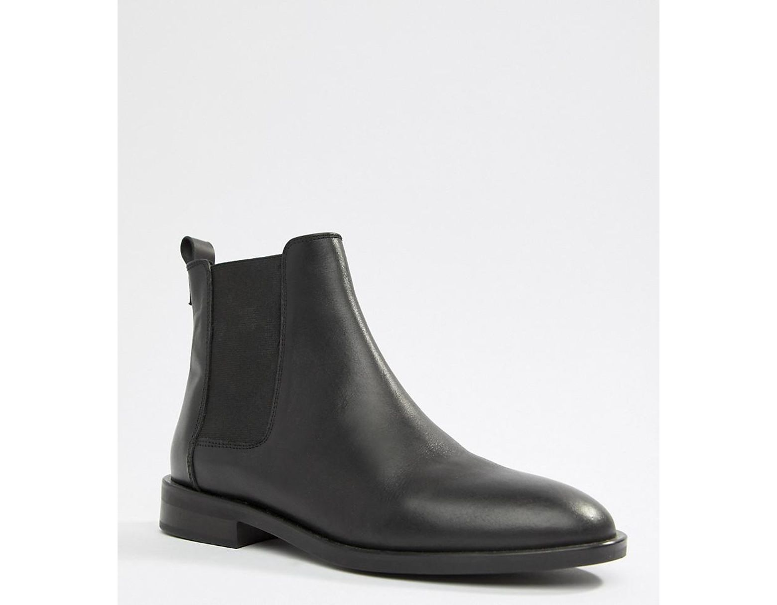 842d3d21737 ASOS Aura Leather Chelsea Ankle Boots in Black - Lyst