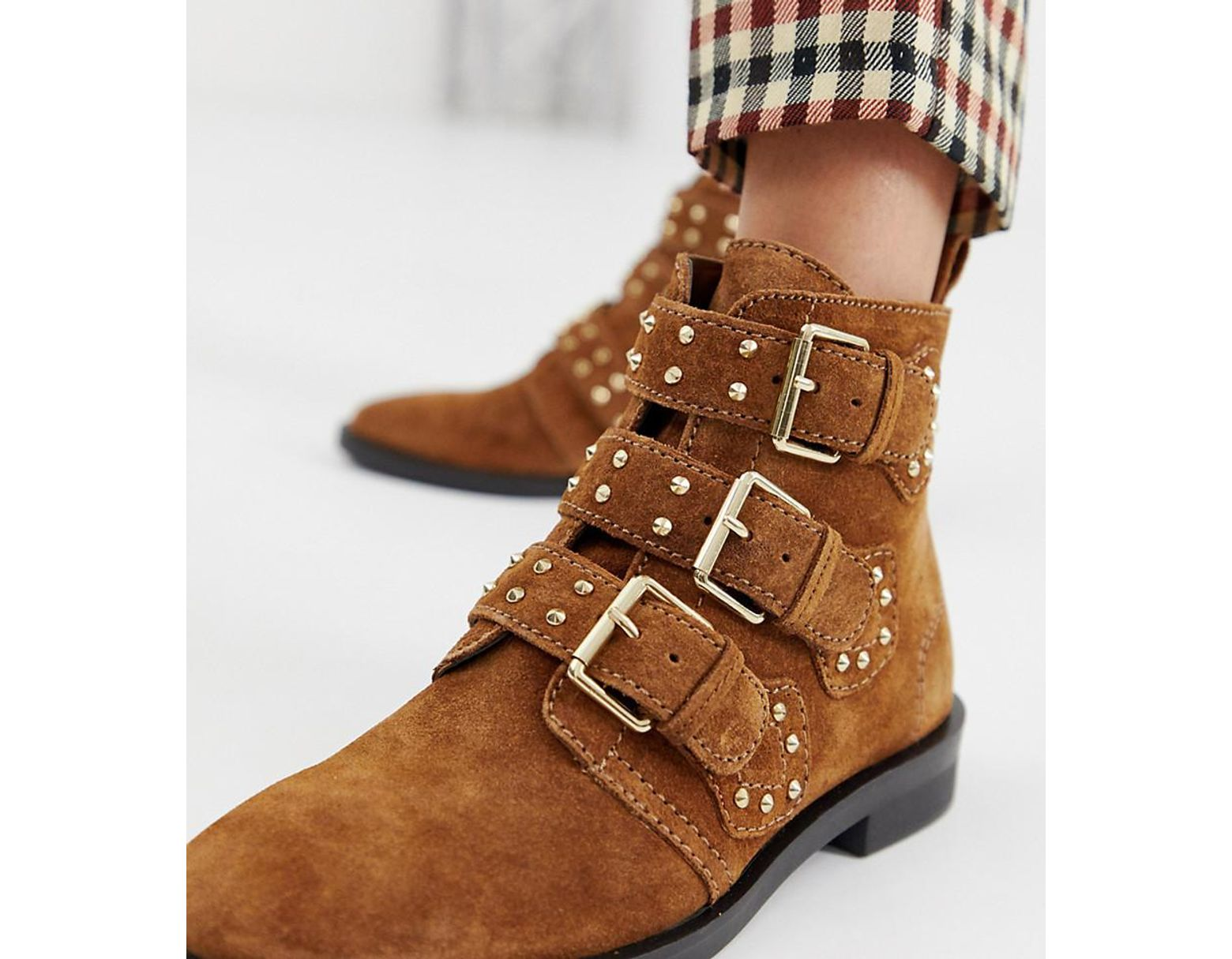 5b95f16dbf0 Women's Natural Buckle Detail Ankle Boot