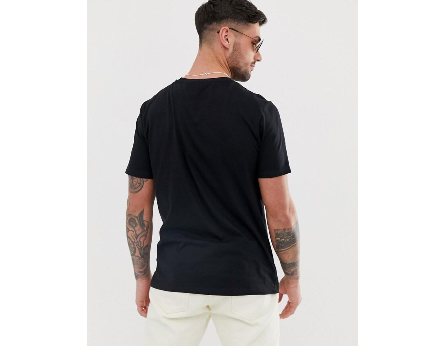 aa18dc88 River Island T-shirt With Prolific Embroidery In Black in Black for Men -  Lyst