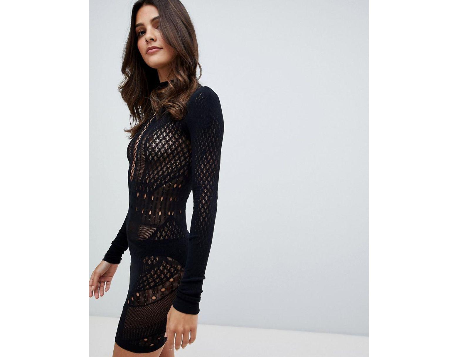 5f70004c1e Ann Summers Janelle Knit Circular Stretch Dress in Black - Lyst