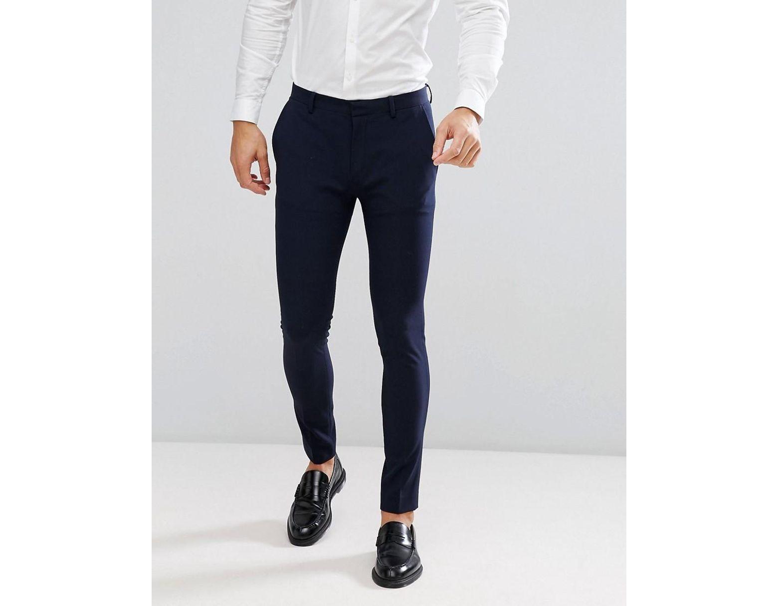 Bleu Marine Skinny Homme Pantalon De Costume Super BodxeWrC
