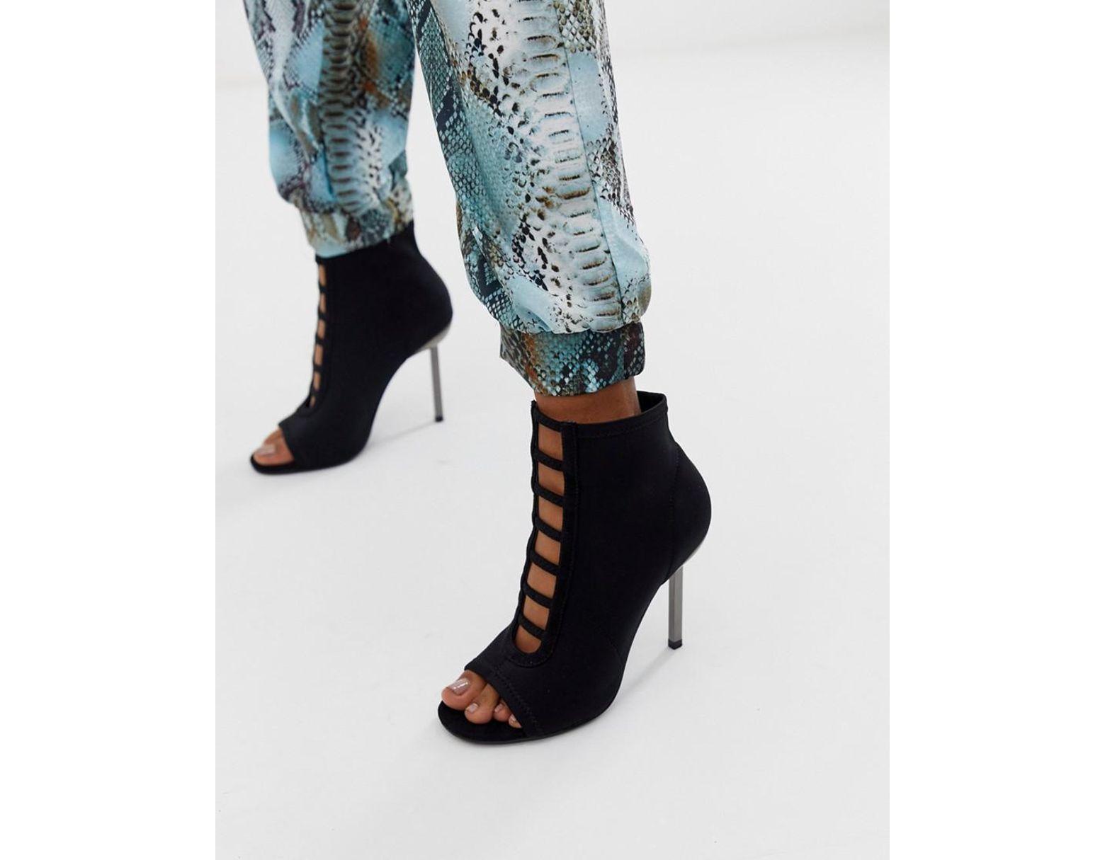 768fc8fd998 Women's Black Paramount Knitted Heels