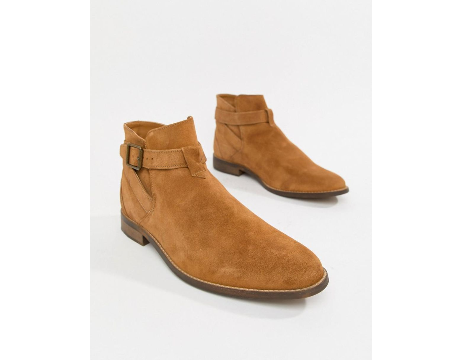 68e5a1a9b88 Men's Brown Suede Chelsea Boots In Tan