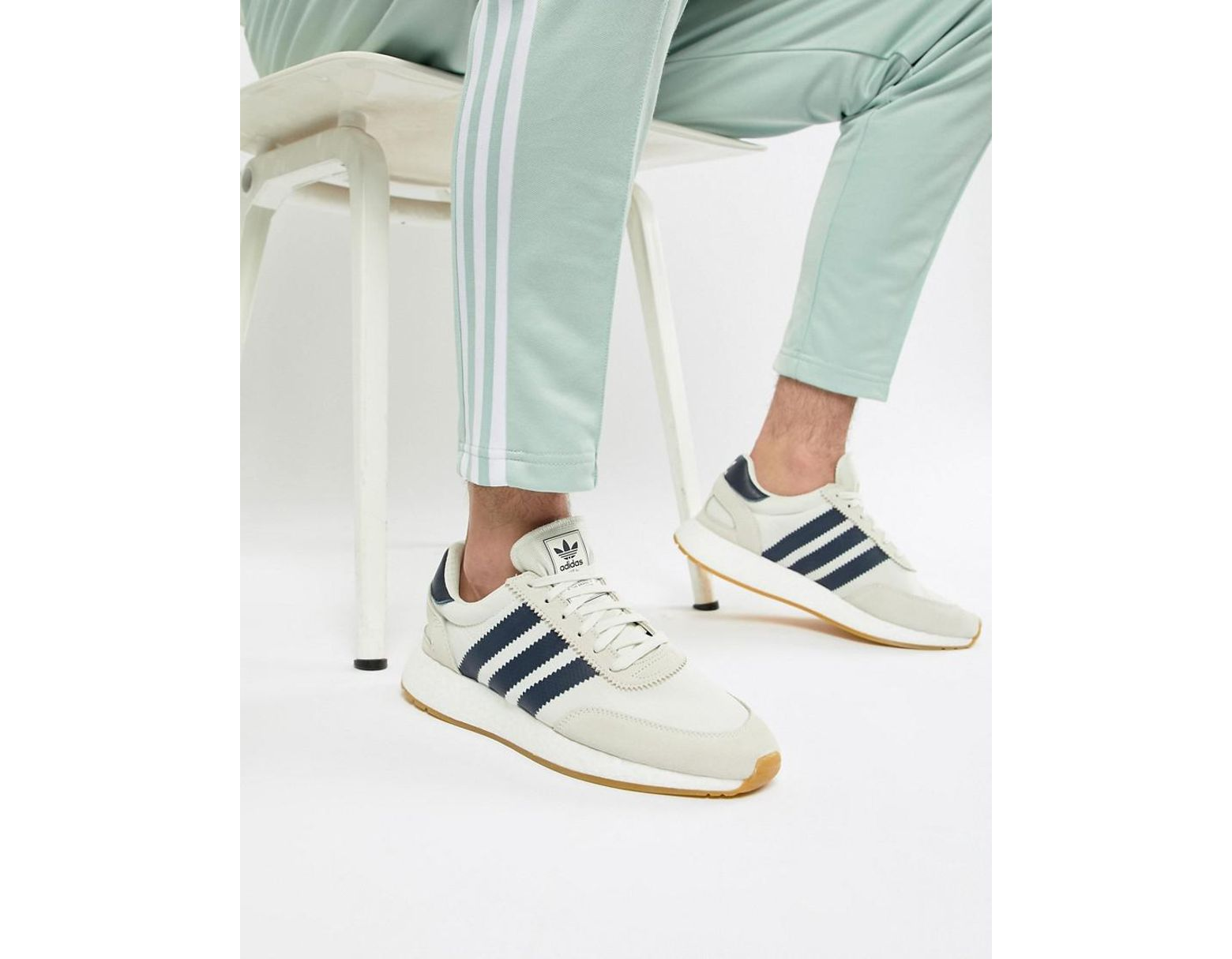 online store 8e6c9 1a16f adidas Originals I-5923 Boost Suede Sneakers In White B37947 in White for  Men - Lyst