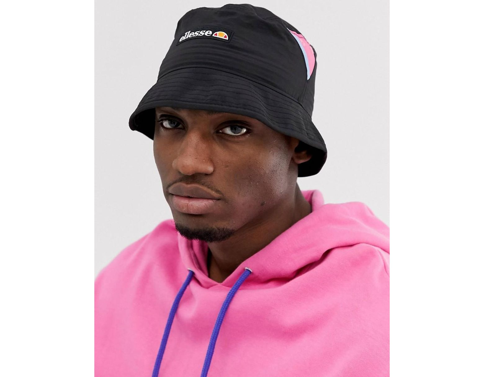 1e3f177b20 Ellesse Matero Bucket Hat With Patch Logo In Black in Black for Men ...