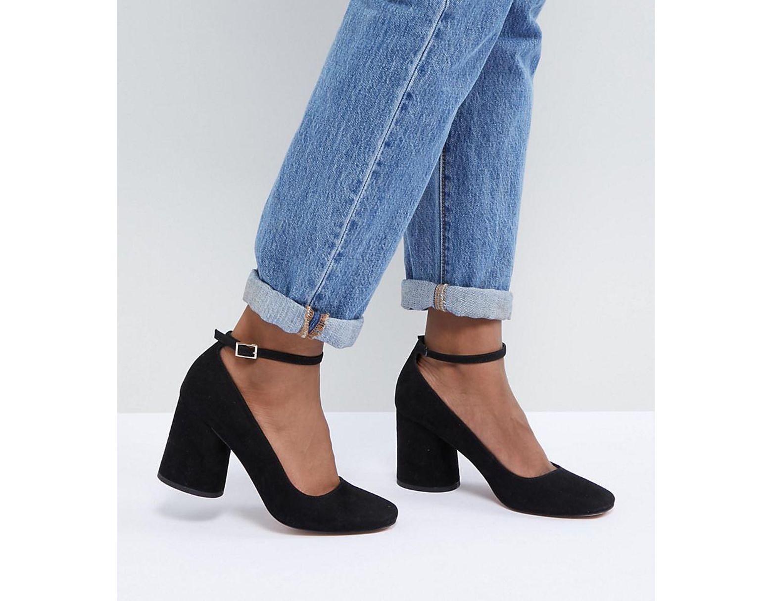 7242f870e711e ASOS Shortbread Heels in Black - Lyst