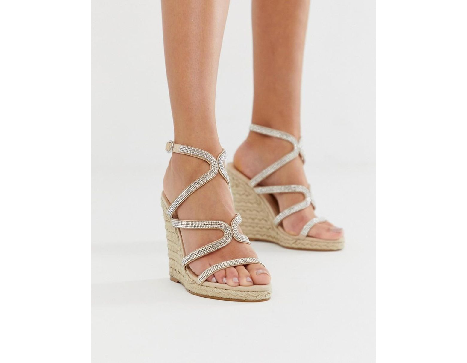 a684a5c2642 Women's Pink Honeydew Silver Embellished Espadrille Wedges