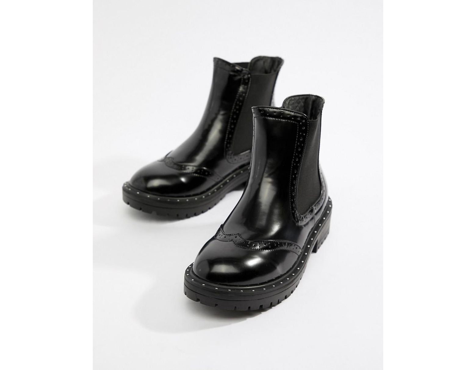 852313eb004 Women's Black Wide Fit Chunky Chelsea Ankle Boots