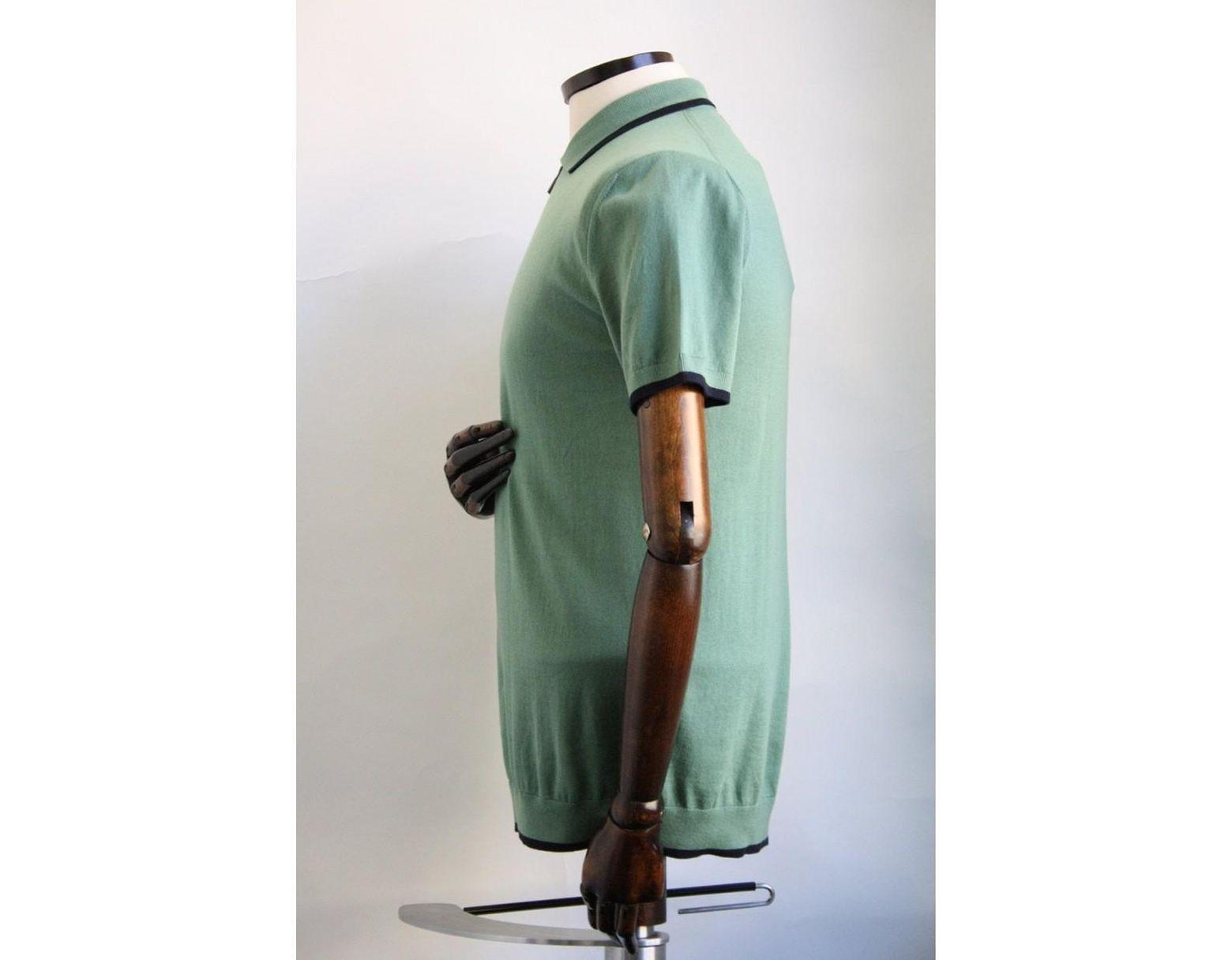 Da Uomo Pretty Green Tipped Pique Polo Shirt in ROSSO