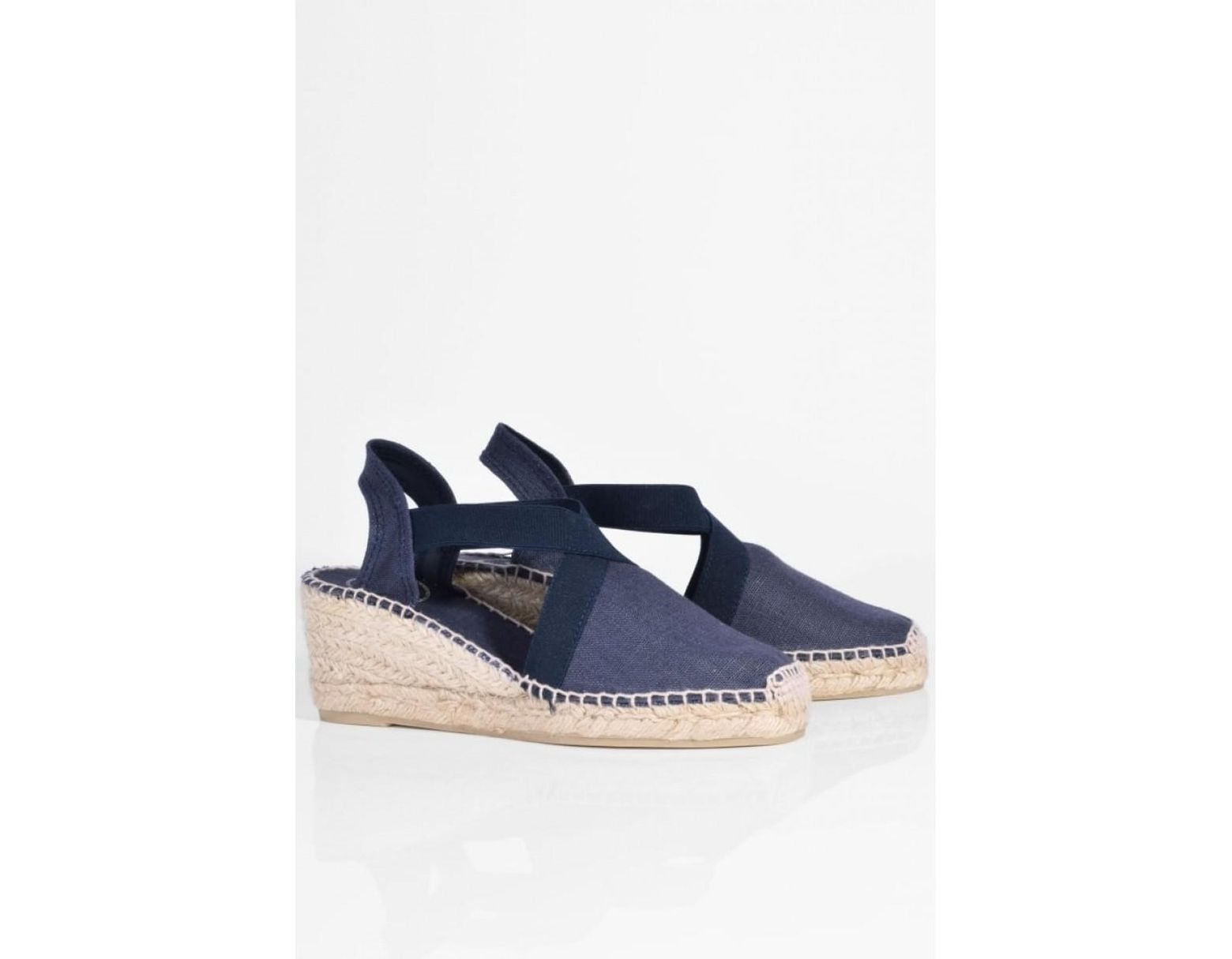 d539d79bc7a Toni Pons Ter Linen Espadrille Wedge in Blue - Lyst