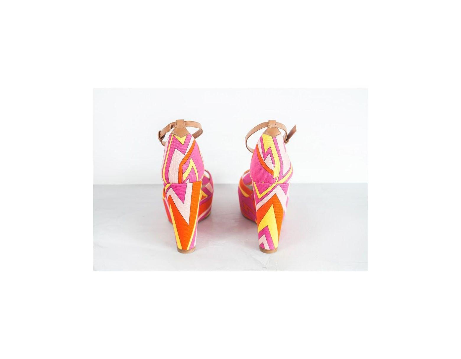 los angeles 3c6cd 2d372 Missoni Zeppe Stampa Geometrica in Pink - Lyst