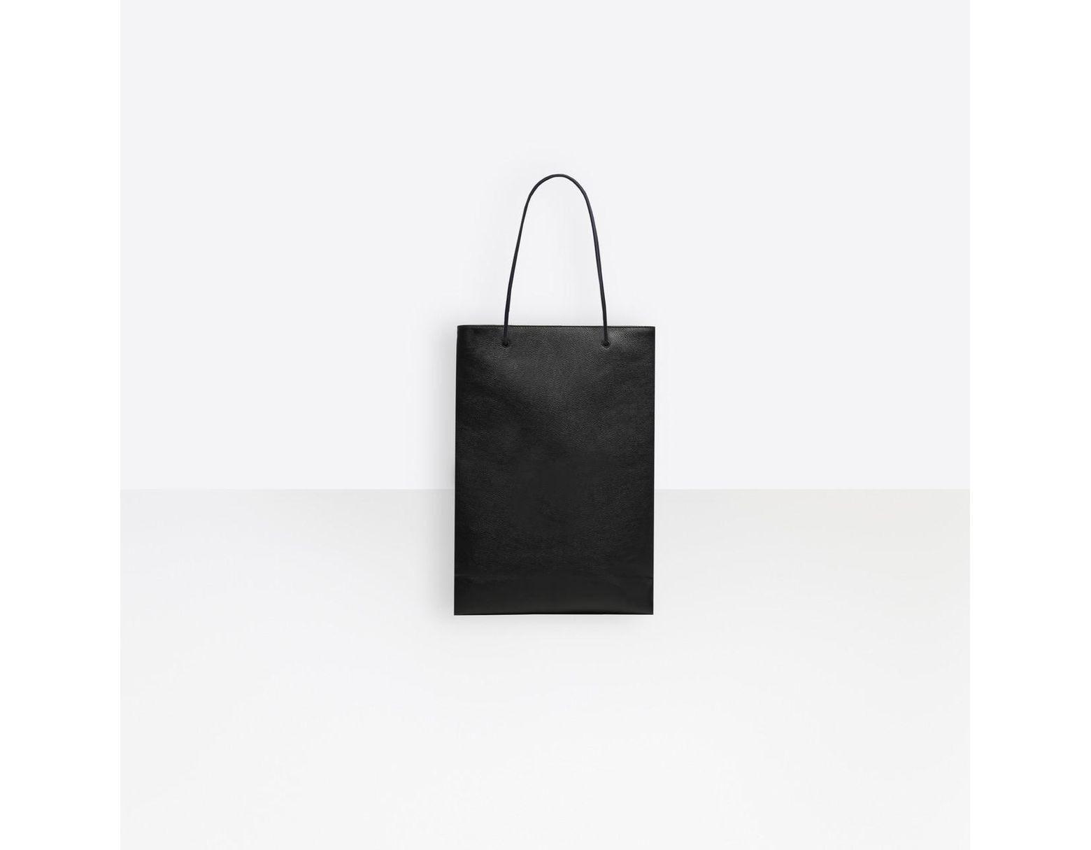 694b763e1a Balenciaga Shopping Bag North-south M in Black - Lyst