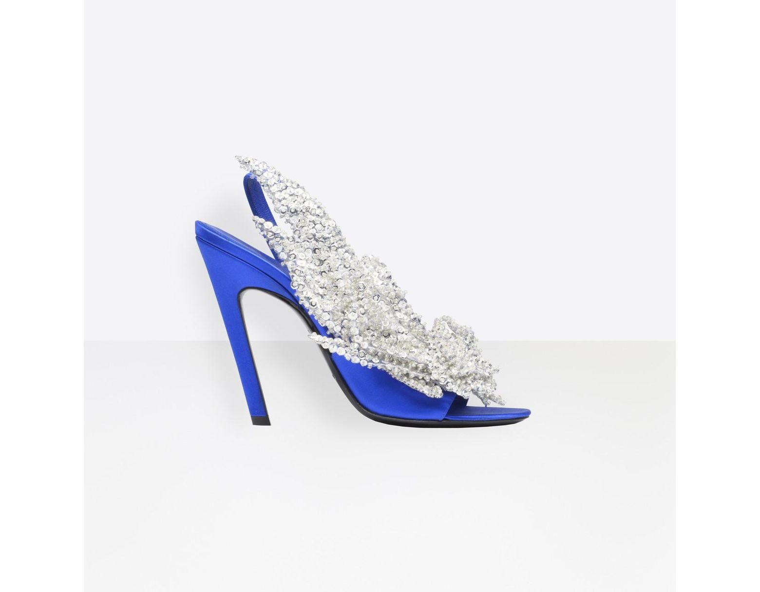 Slash Sandales De Talon Bleu Coloris Femme 0XOPk8nw