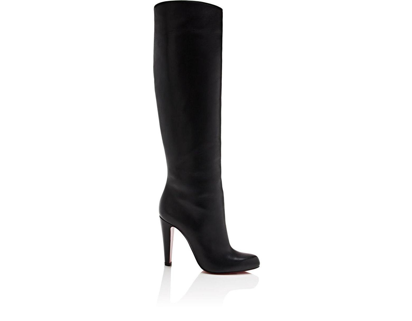 d5847eff52a Women's Black Marmara Leather Knee Boots