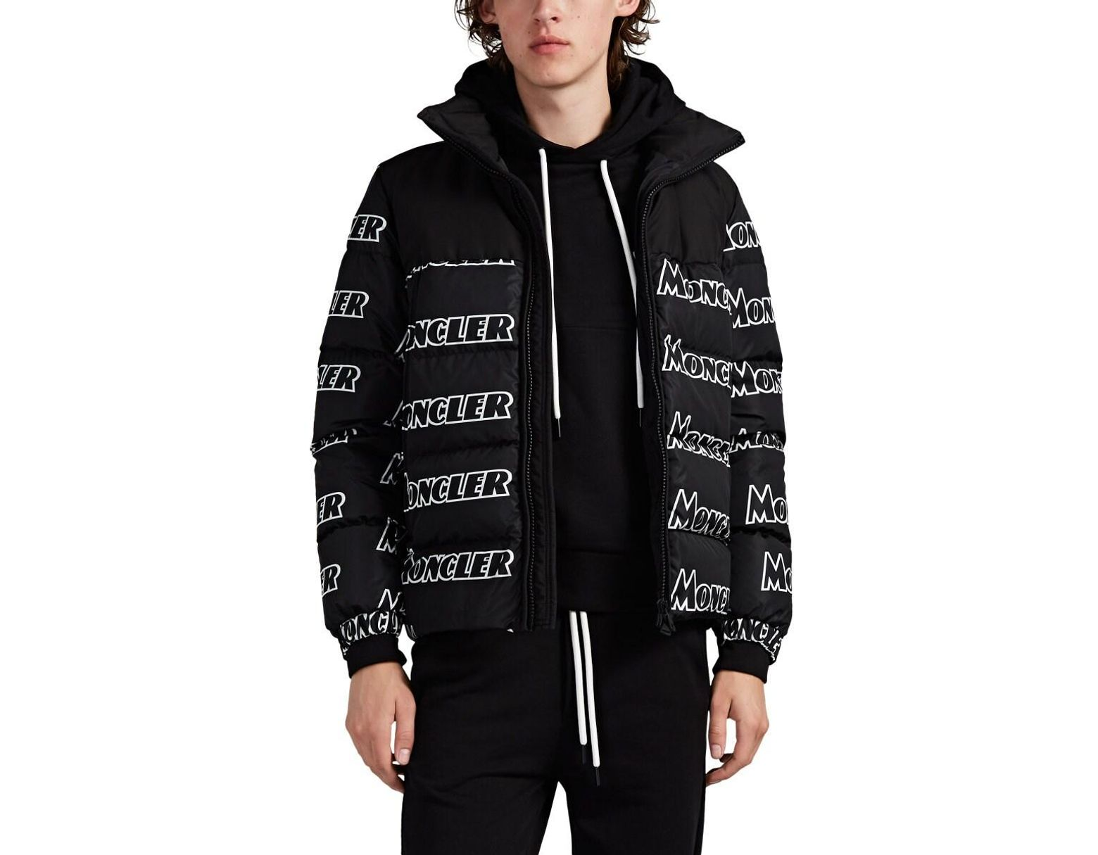 678ae3ed4 Moncler Faiveley Logo Down-quilted Puffer Jacket in Black for Men - Lyst