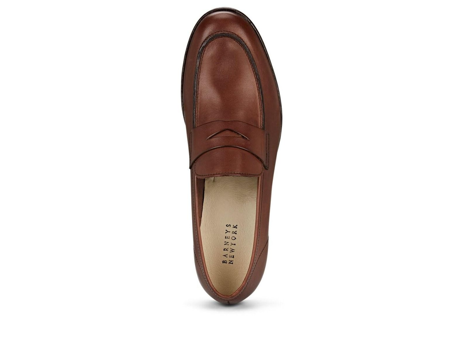 caea3bc42aa52 Barneys New York Dakota Leather Penny Loafers in Brown for Men - Lyst