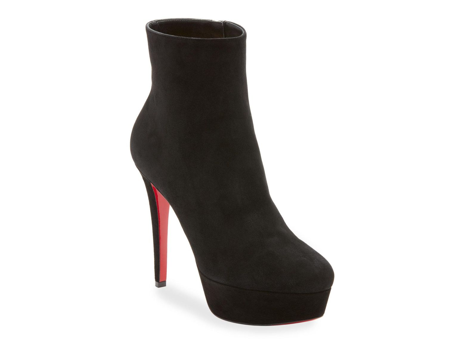 153094e5ba9 Christian Louboutin Bianca Suede Platform Red Sole Boot in Black ...