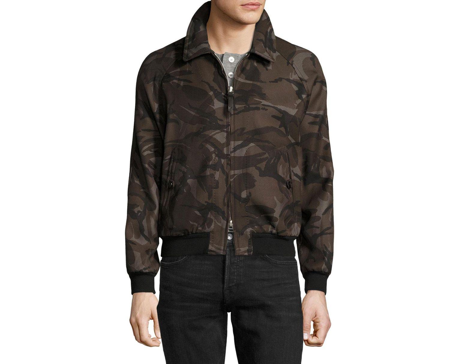 34ba8df3a1aec Tom Ford Camouflage Raglan Bomber Jacket for Men - Lyst
