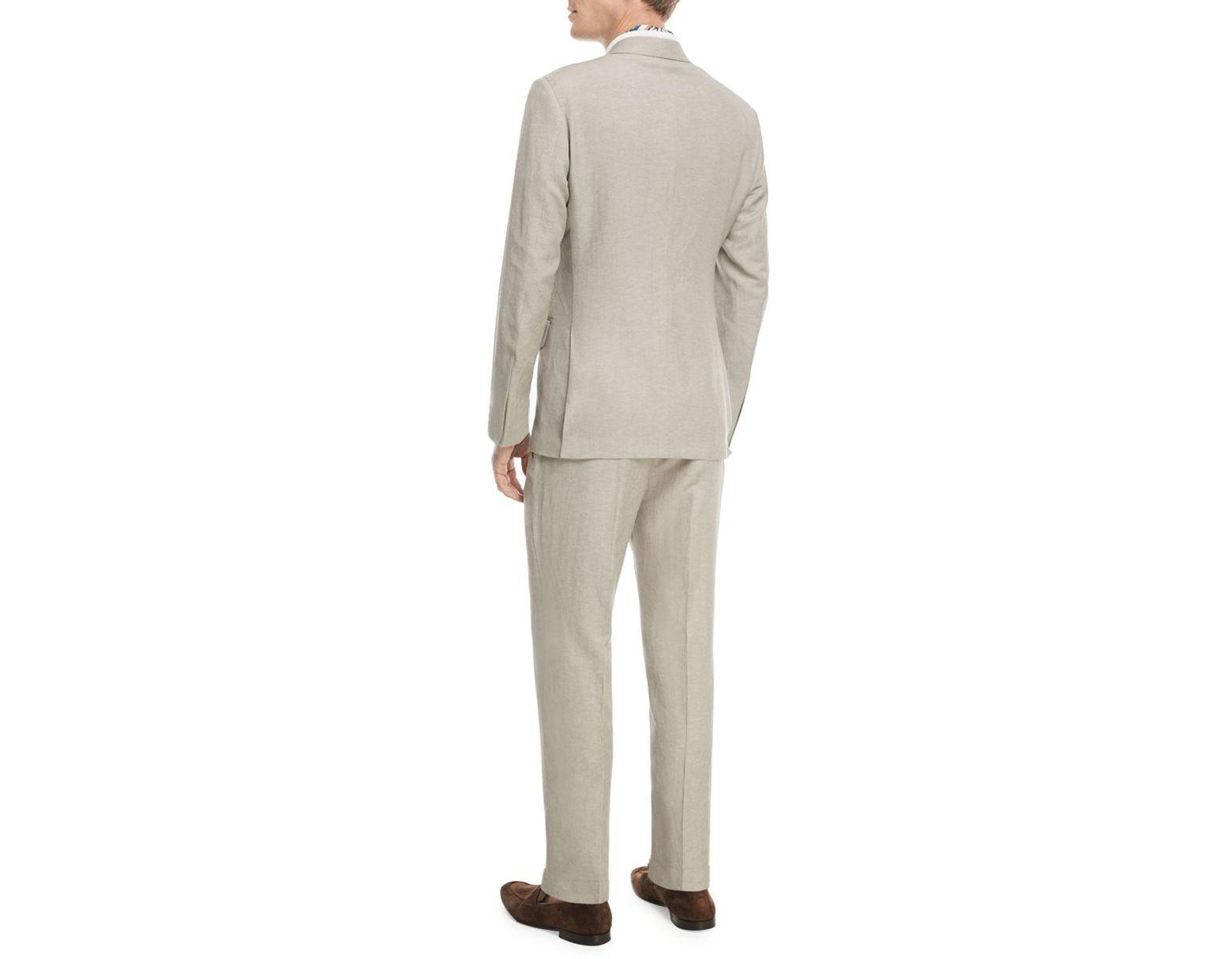 d84fc312 Men's Brown Solid Summer Trofeo® Wool/linen Two-piece Suit