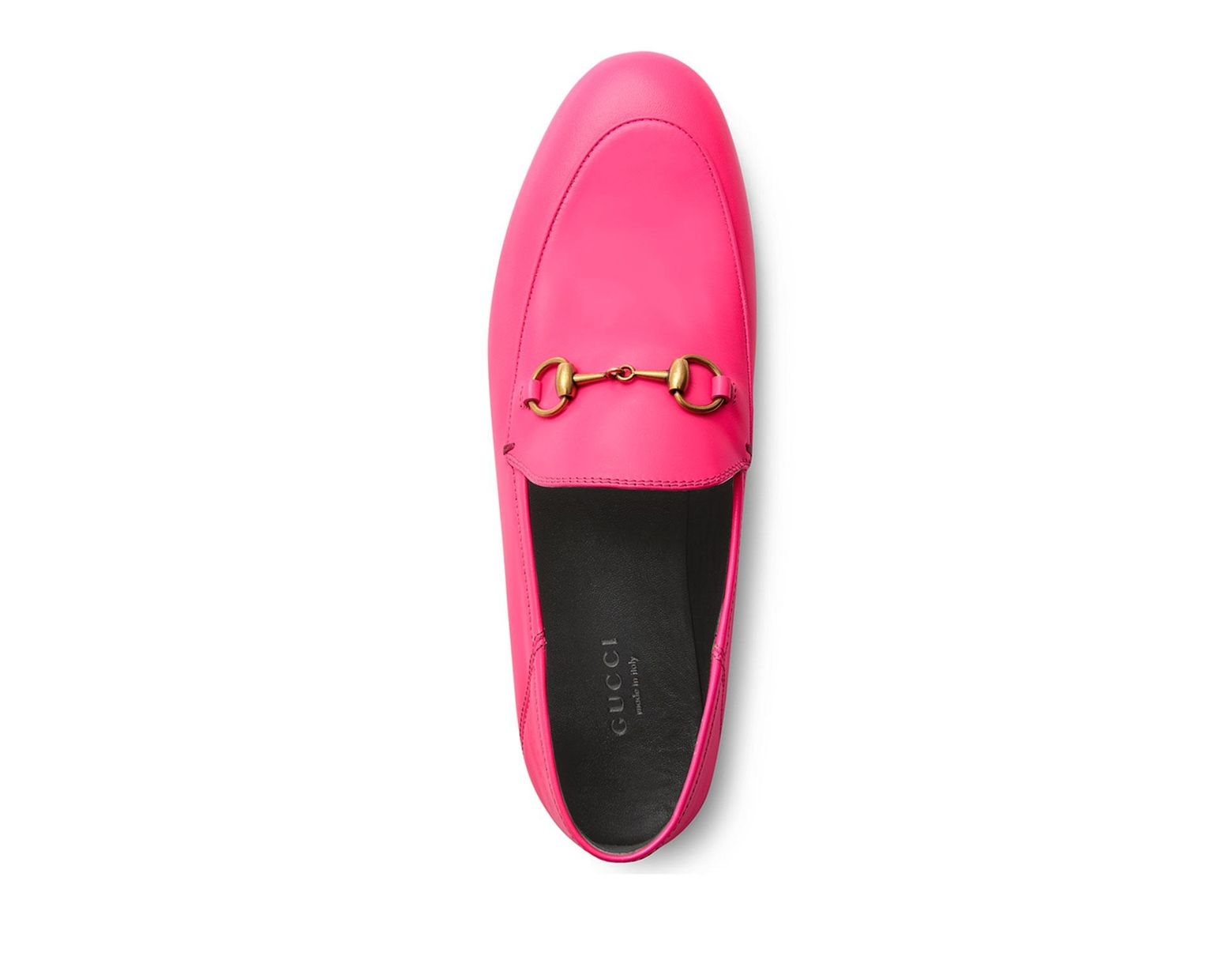 aeffa00ed Gucci Brixton Neon Leather Horsebit Loafers in Pink - Lyst